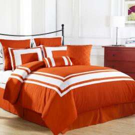 Cozy Beddings Lux Décor 8 Piece Comforter Set