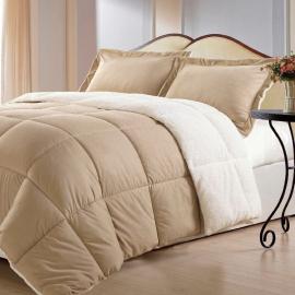 Borrego Comforter Set, Queen, Camel