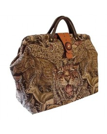 ArtisanStreet's Wildlife Tapestry Carpet Bag