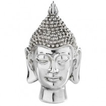 Deko Buddha Kopf silber
