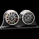 Carbon Fiber Flag Clock and Barometer