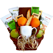Fruit and Coffee Gift Basket