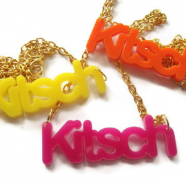 Kitsch Necklace, Neon Laser Cut, Choice of 3 Colors