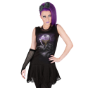 Dress womens SPIRAL - Black Cat Magic