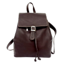 Piel Top Flap Drawstring Backpack