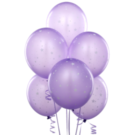 11'' Matte Balloons with Stars