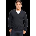 BOSS Black Cotton V-Neck Sweater