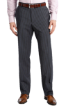 BOSS Black 'Pasolini-Movie' Grey Stripe Virgin Wool Suit