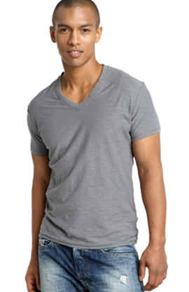 DIESEL 'TOS' Slim Fit V-Neck Slub T-Shirt