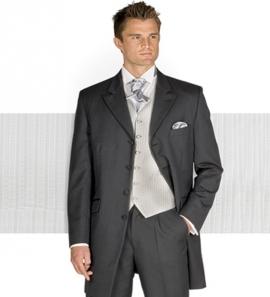 Grey Herringbone Prince Edward Wedding Suit
