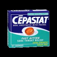 Cepastat Sugar Free Oral Anesthetic Lozenges with Phenol, Menthol Eucalyptus Flavor
