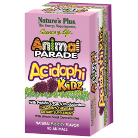 Nature's Plus Animal Parade AcidophiKidz Children's Chewables, Berry