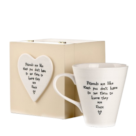 Friends Are Like Stars - Wooden Box with Mug
