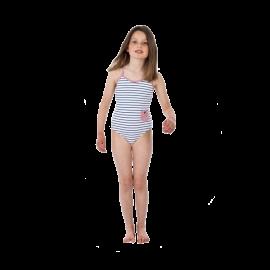 Girls Stripe Swimsuit