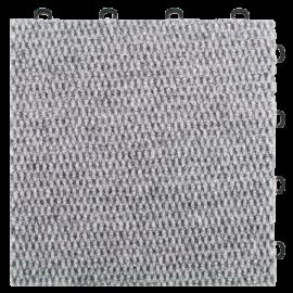 BlockTile B4US4620 Interlocking Carpet Tiles Premium, Gray, 20-Pack