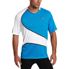 Fila Tennis Men's Center Court Color-Blocked Crew Shirt