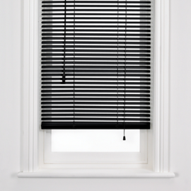 John Lewis Metal Venetian Blinds, Black, 25mm