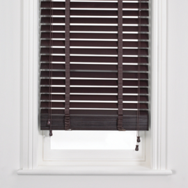 John Lewis Wooden Venetian Blinds, Mocha, 50mm
