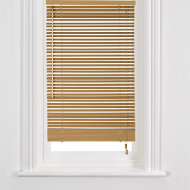John Lewis Wood Venetian Blind, 25mm, Natural
