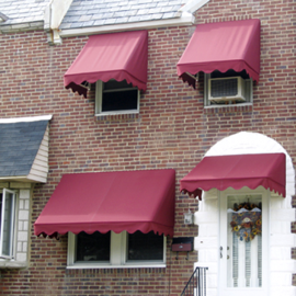 Traditional Style Fabric Window Awnings