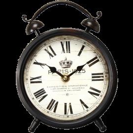 Adeco [CK0031] Vintage Retro Round Decorative Iron Wall Clock French Design- Home Decor