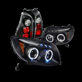 Toyota 4Runner Black Halo Projector Headlights, Altezza Tail Lights