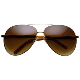 Designer Inspired Large Metal Aviator Sunglasses