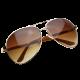 Designer Inspired Large Metal Aviator Sunglasses