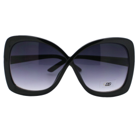 DG Eyewear High Fashion Butterfly Oversize 2 Tone Women's Sunglasses