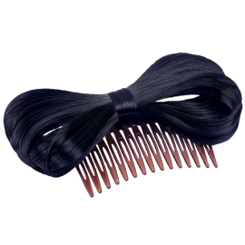 Bow Hair Extension Bowknot Black Comb Clip Fashion Hairpiece Party