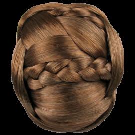 essica Simpson Hairdo Braided Chignon Clip In Bun Hair Ginger Brown