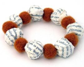 Beaded book lover Bracelet