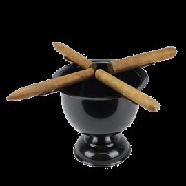 4 Stirrup Tall Stinky Cigar Ashtray - Jet Black