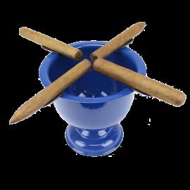 4 Stirrup Tall Stinky Cigar Ashtray - Royal Blue