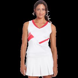 Bollé Women's Star Burst V-Neck Tennis Tank