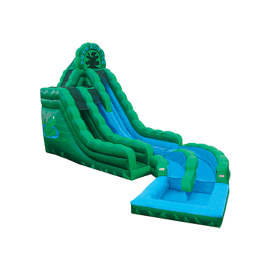 20' Emerald Ice Dual Lane Water Slides