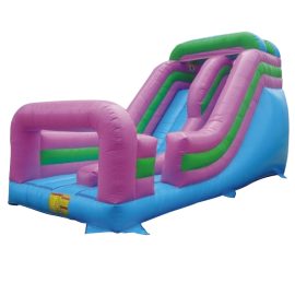 21 Foot Inflatable Single Lane Slide w Built-In Ladder