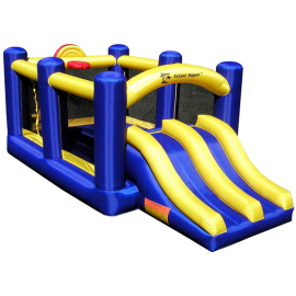 Aqua Sports Technology Racing Slide and Slam Bounce House