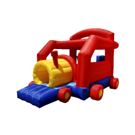 Cloud 9 Choo Choo Train Bounce House - Inflatable Bouncer with Tunnel, Slide and Air Blower