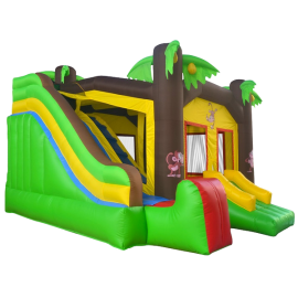 Commercial Grade Jungle Bounce House with Blower and Slide by Inflatable HQ