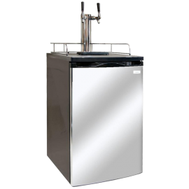 Kegco K199SS-2 Dual Faucet Kegerator Draft Beer Dispenser