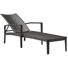 Phuket Lounger in Chocolate - Zuo Modern