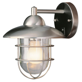 Trans Globe Lighting 1 - Light Outdoor Stainless Steel Wall Lantern
