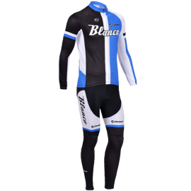 2013 Blanco Black and Blue Man's Long Sleeve Bicycle Cycling Suit Comfortable Outdoors Cycling Bike Set Riding Clothing