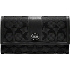 COACH Legacy Printed Signature Check Book Wallet