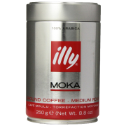 illy Medium Roast Ground Moka Coffee for Stovetop Coffeemakers 8.8 ounce can