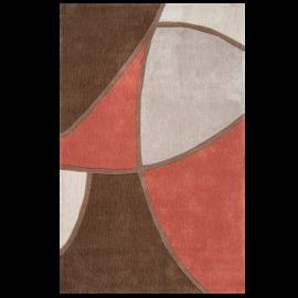 Surya Cosmopolitan COS-8887 Contemporary Hand Tufted 100% Polyester Coffee Bean 8' x 11' Abstract Area Rug