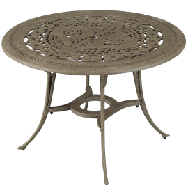 Malibu Outdoor Dining Table in Taupe