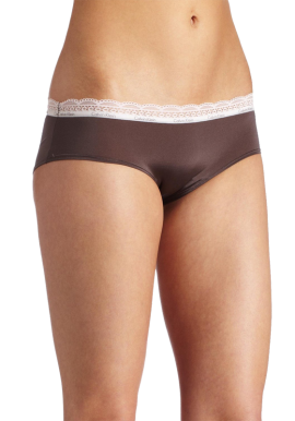 Calvin Klein Women's Lace and Sheen Hipster