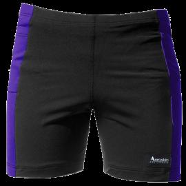 Aeroskin Polypropylene Swim Shorts with Color Side Stripes & Side Pocket
